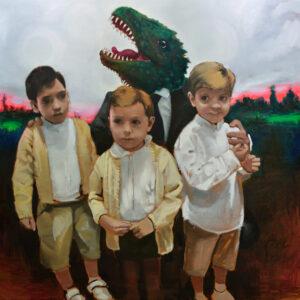 Abrazo paternal de dinosaurio. Juanma Moreno Sánchez 2013
