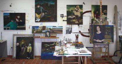 Piezas realizadas en los primeros meses de residencia en la Fundación Antonio Gala para jóvenes creadores, entre las que se incluye Adán y Eva
