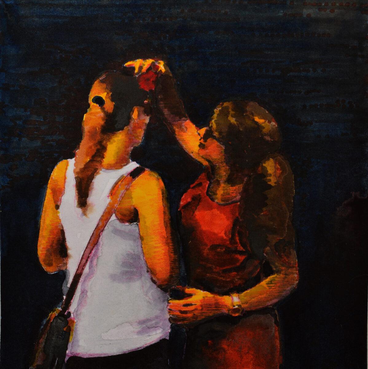 Una rosa pa tu pelo. Juanma Moreno Sánchez 2015. Arte contemporáneo