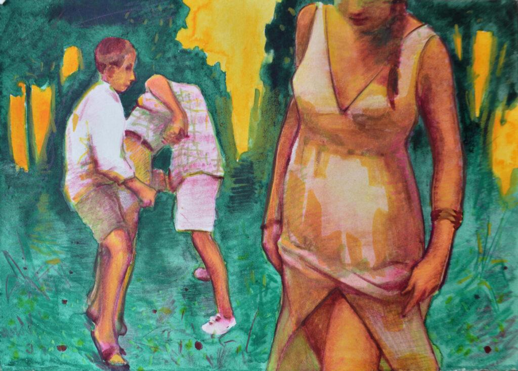 Juanma Moreno Sánchez, hooligan ii I was there, watercolor