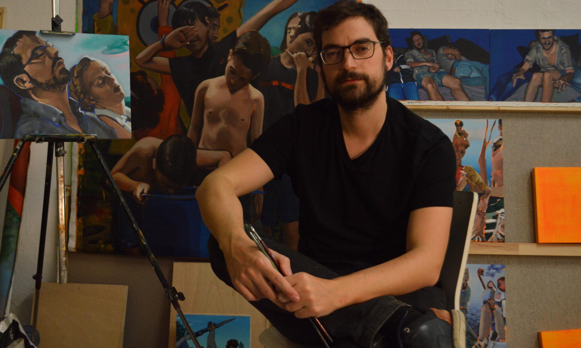 Juanma Moreno Sánchez, pintor.